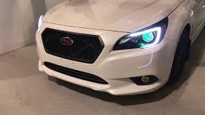jdm subaru sports grill 2015 legacy u0026 outback subaru outback subaru legacy custom paint diode dynamics demon eyes c light