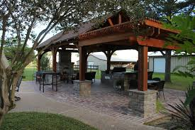 Pavilion In Spring Tx Rustic Patio Houston By Beckman Imports