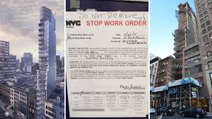 fidi u0027s futuristic condo tower hit with stop work order curbed ny