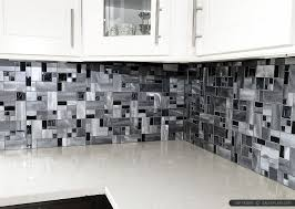 backsplash for black and white kitchen modern black glass metal backsplash tile backsplash