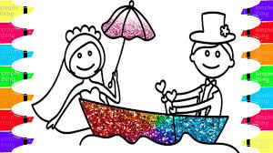 bride and groom coloring page drawing and coloring bride and groom how to draw wedding with
