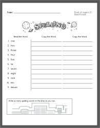 free spelling workbooks and spelling word lists no prep weekly