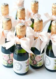bridal party favors bridal shower favor tags for mini wine bottles by sosweetpartyshop