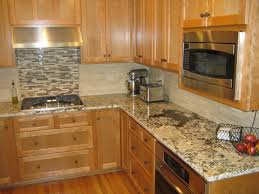 kitchen backsplash tile cherry cabinets white pine wood kitchen