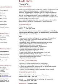 Resume Of Nanny Babysitter Resume Sample Resume Examples Pinterest Resume