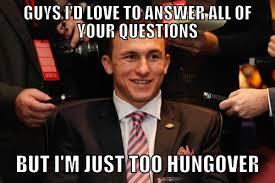 Johnny Manziel Meme - manziel at sec media days meme good bull hunting