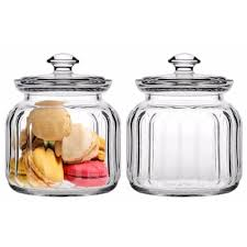 macallister stackable glass kitchen canisters with glass canister