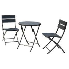 Folding Patio Bistro Set 3 Piece Patio Folding Bistro Set Black Sunjoy Target