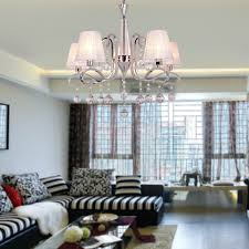 Clearance Bathroom Light Fixtures by Modern Crystal Chandeliers With 5 Lights White Ceiling Light