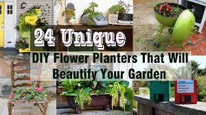24 unique diy flower planters that will beautify your garden youtube