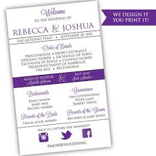Modern Wedding Program Wedding Programs Posh Pixel Designs Online Store Powered By
