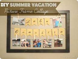 vacation gift cards and crafty diy summer vacation picture frame