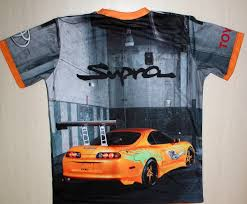 toyota supra logo toyota supra t shirt with logo and all over printed picture t