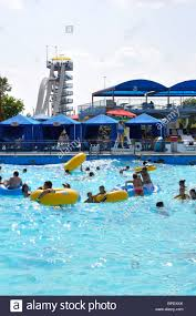 Six Flags Water Parks Pool At Hurricane Harbor Waterpark Six Flags Over Texas Amusement