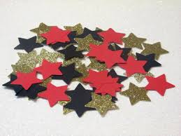 Black And Red Party Decorations 210 Red Black Gold Star Confetti Rock Star Party Rock Star