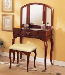 Antique Vanity With Mirror Amazon Com William U0027s Home Furnishing Cherry Tri Mirror Vanity