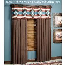 Southwestern Style Curtains Southwest Frontier Grommet Window Treatments Window Westerns