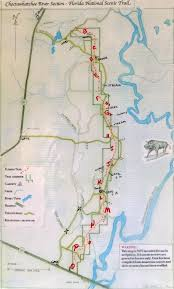 Florida Rivers Map by The Choctawhatchee River Section Of The Florida National Scenic Trail