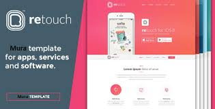 themes for mobile apps retouch mobile app muracms theme by mitrahsoft themeforest