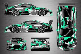 camo wrapped cars porsche racing livery camo wrap covert ki studios