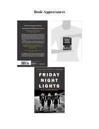 friday night lights book online pdf download friday night lights a town a team and a dream eboo