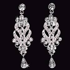 clip on chandelier earrings wedding bridal earrings chandelier earrings tiara