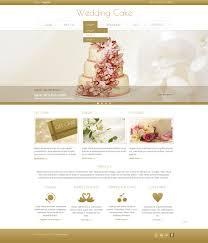 wedding cake joomla template 44444