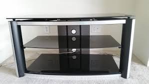 Z Line Designs Computer Desk Z Line Designs 3 Tier Glass Metal Black Silver Tv Stand Theflyer Com