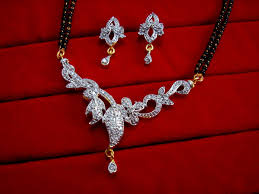 Gift For Wife Daphne Designer Zircon Studded Mangalsutra For Women