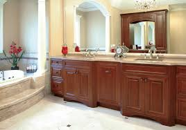 bathroom decorating ideas with cherry cabinets interior design