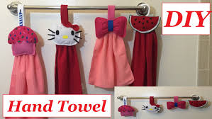 diy kitchen hand towel or bathroom hand towel ideas cute and easy