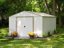 arrow oakbrook 10 ft 3 in w x 13 ft 7 in d metal storage shed