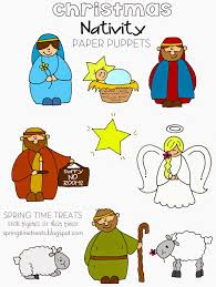 spring time treats nativity paper puppets free printables