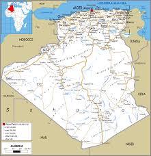 algeria physical map algeria detailed political and road map detailed political and