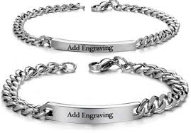 steel bracelet images Personalized stainless steel bracelet set grandeur essentialz png