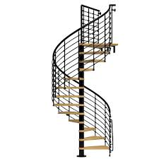 arke nice1 51 in black spiral staircase kit k50106 the home depot