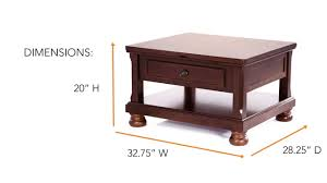 porter rectangular lift top cocktail table from ashley youtube