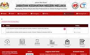 Resume Sample Untuk Kerja Kerajaan by Jawatan Kosong Kerajaan 2017 Di Jabatan Kesihatan Negeri Melaka