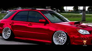 subaru stance stance subaru impreza red chrome 720x540 youtube