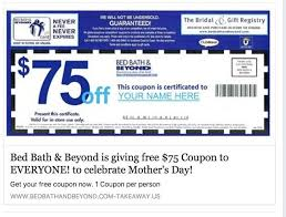 bed bath bridal registry fact check 75 bed bath beyond coupon