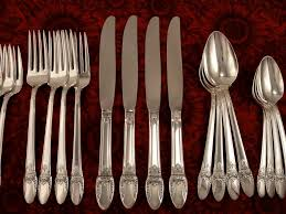 1847 rogers first love art deco silverware set vintage 1937 silver