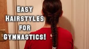 easy hairstyles for gymnastics youtube