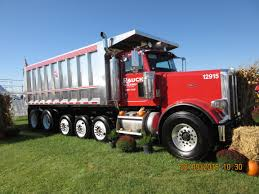 long big red 6 axle peterbilt dump truck my truck pictures