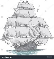draw sail boat made by simple stock vector 85420951 shutterstock