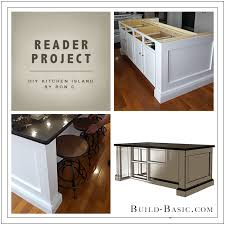 kitchen island plans diy reader project diy kitchen island build basic