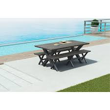 Patio Dining Set With Bench - boaz modern outdoor bench eurway modern furniture
