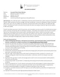Mental Health Resumes Lcsw Resume Resume For Your Job Application