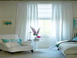 decoration lovely white curtains double slice for glass open