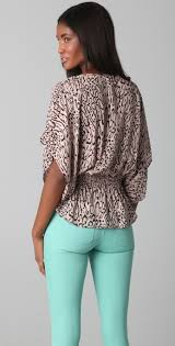 elastic waist blouse lyst elastic waist blouse