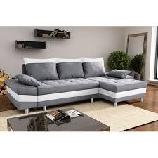canape gris et blanc bestmobilier san diego gris blanc canapé d angle droit achat